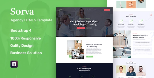 Sorva - Agency Landing Page HTML5 Template - Business Corporate