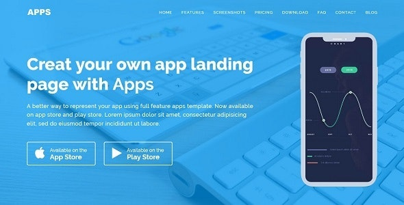 APPS - Responsive App Landing WordPress Theme by thematicwebs