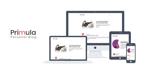 Primula - Bootstrap 4 Minimal Blog Ghost Theme - Ghost Themes Blogging