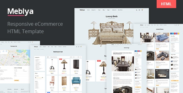 Meblya - Furniture eCommerce HTML Template - Shopping Retail