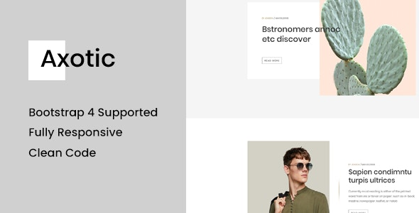 Axotic - Multipurpose Ghost Blog Theme - Ghost Themes Blogging