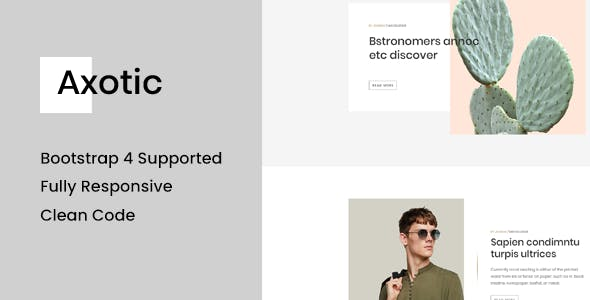 Axotic - Multipurpose Ghost Blog Theme