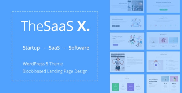 TheSaaS X - Responsive SaaS, Startup & Business WordPress Theme - Software Technology