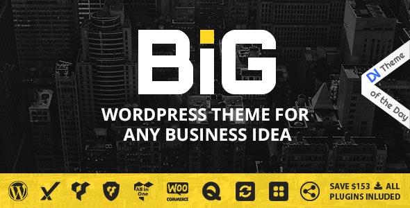 B I G - WordPress Theme for Any Business Idea by wwwebinvader