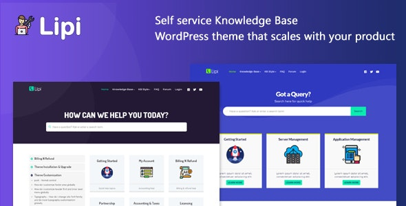 Lipi - Self Service Knowledge Base and Creative WordPress Theme - Miscellaneous WordPress