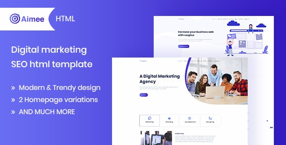 Aimee v1.0 – Digital Marketing & SEO Template