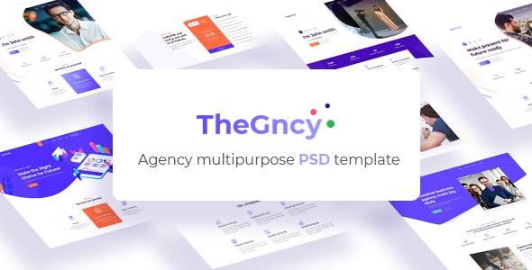 TheGncy - Agency PSD Template - Creative PSD Templates