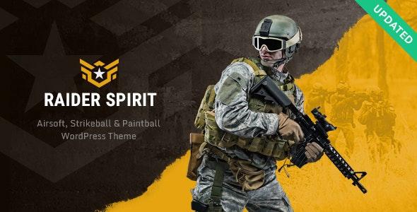 Raider Spirit | Airsoft Club & Paintball WordPress Theme - Entertainment WordPress