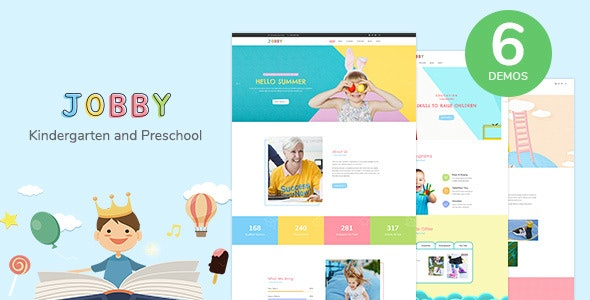Jobby - Day Care and Kindergarten HTML5 Template - Children Retail