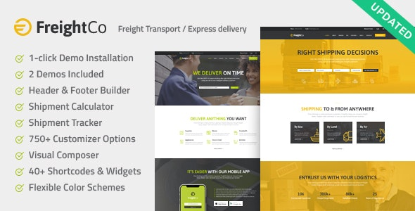 FreightCo | Transportation & Warehousing Shipping WordPress Theme - Business Corporate