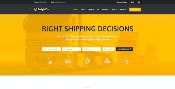 FreightCo   Transportation & Warehousing Shipping WordPress Theme