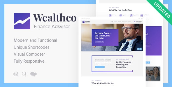 WealthCo   A Fresh Business & Financial Consulting WordPress Theme - Business Corporate