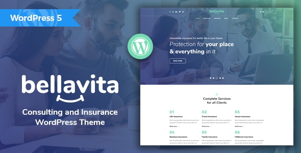 Bellavita - Insurance & Finance WordPress Theme - Business Corporate