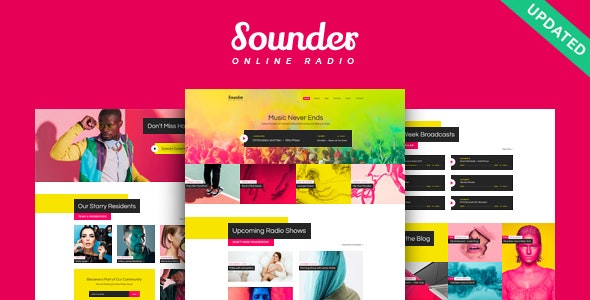 Sounder | Online Internet Radio Station WordPress Theme - Music and Bands Entertainment