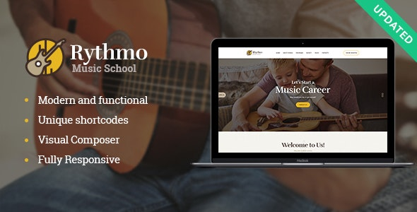 Rythmo | Music School WordPress Theme - Education WordPress