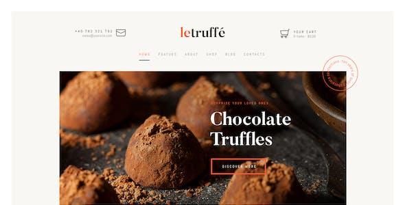 Le Truffe | Chocolate Sweets & Candy Store WordPress Theme