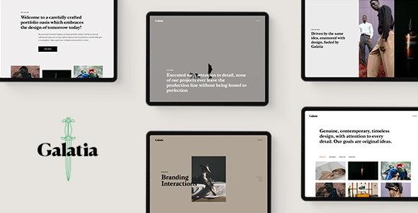 Galatia - Contemporary Agency Theme - Portfolio Creative