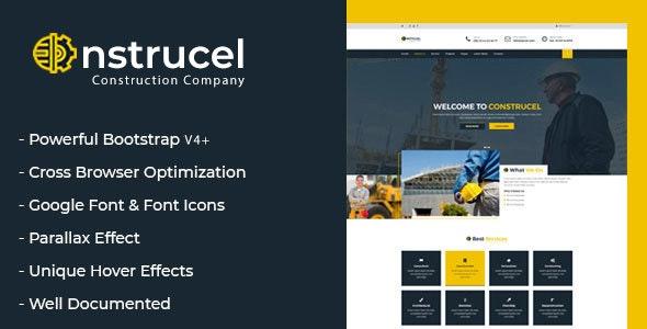 Construcel – Responsive Creative Construction Multi-Purpose Template - Business Corporate