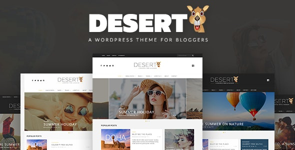Desert - WordPress Travel Blog Theme - News / Editorial Blog / Magazine