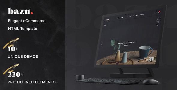 Bazu - Modern and Unique eCommerce HTML Template - Fashion Retail