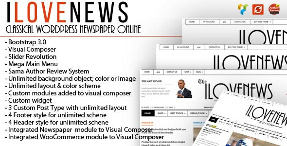 IloveNews - Classic and clean Newspaper Theme - Blog / Magazine WordPress
