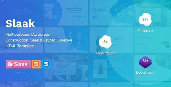 Slaak - Creative Multi-purpose Parallax HTML Landing Template + RTL - Creative Site Templates