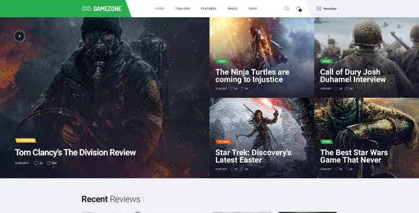 Gamezone | Video Gaming Blog & Esports Store WordPress Theme