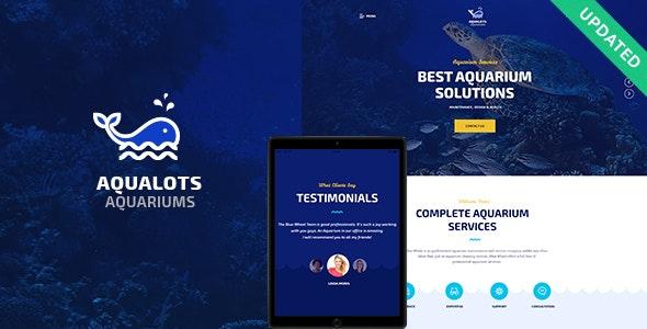 Aqualots | Aquarium Installation and Maintanance Services WordPress Theme - Retail WordPress