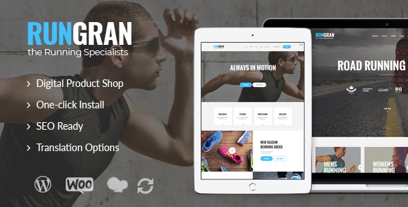 Run Gran | Sports Apparel & Gear Store WordPress Theme - WooCommerce eCommerce