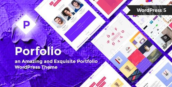 Porfolio - Minimal Portfolio WordPress Theme