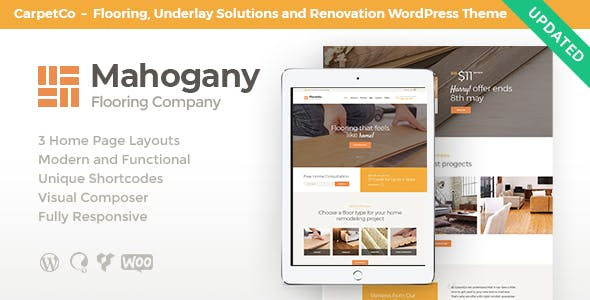 Mahogany | Carpenting Woodwork & Flooring Company WordPress Theme