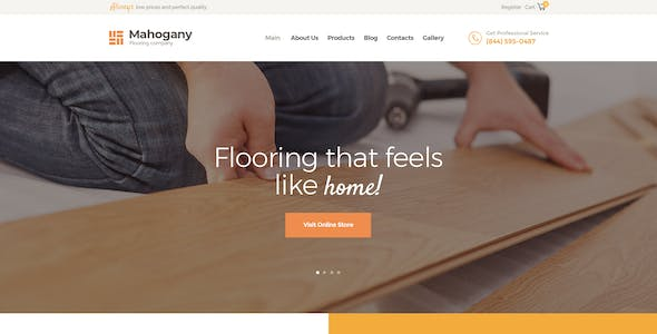 Flooring Company Website Templates From Themeforest