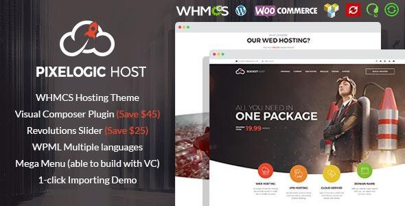 Pixelogic - WHMCS Hosting, Shop & Corporate Theme - Creative WordPress