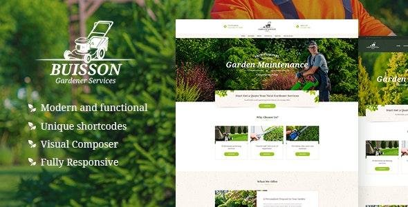 Buisson | Gardening WordPress Theme - Retail WordPress