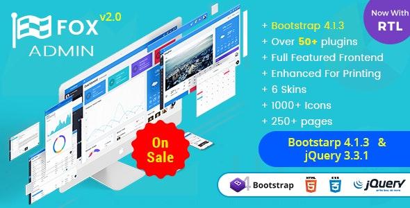 Fox - Multipurpose Bootstrap 4 Admin Dashboard Template UI