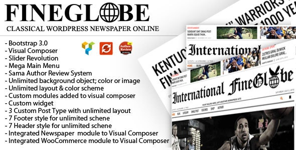 Fineglobe - Classic Newspaper Theme - Blog / Magazine WordPress