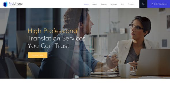 ProLingua | Translation Bureau & Interpreting Services WordPress Theme