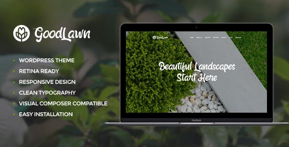 Horticulture Website Templates from ThemeForest