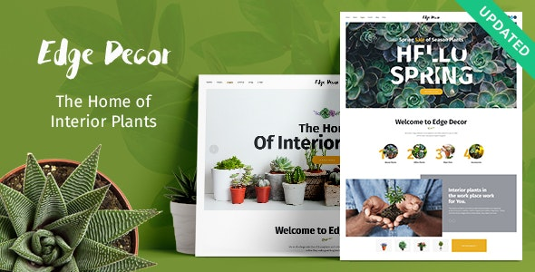 Edge Decor | A Modern Gardening & Landscaping WordPress Theme - Retail WordPress