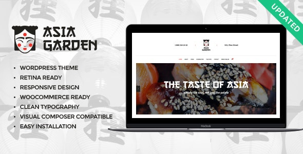 Asia Garden | Asian Food Restaurant WordPress Theme - Restaurants & Cafes Entertainment