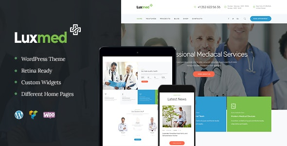 LuxMed | Medicine & Healthcare Doctor WordPress Theme - Health & Beauty Retail