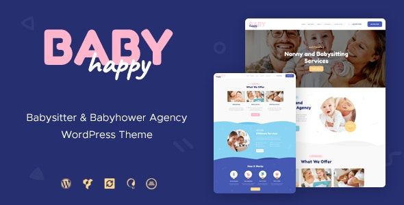 Happy Baby | Nanny & Babysitting Services Children WordPress Theme - Children Retail
