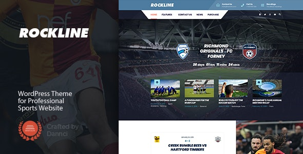 Rockline - Sport News and Club WordPress Theme - Nonprofit WordPress