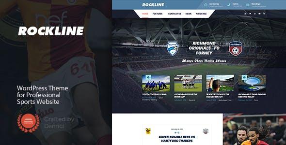 Rockline - Sport News and Club WordPress Theme