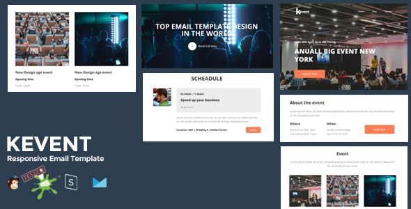 KEVENT - Best Responsive Event Email Template + Online Stampready Builder - Newsletters Email Templates