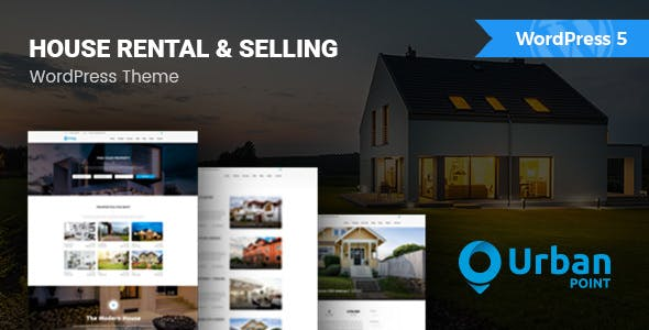 UrbanPoint - House Selling & Rental WordPress Theme