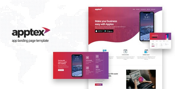 Apptex | App Landing Page Template - Apps Technology