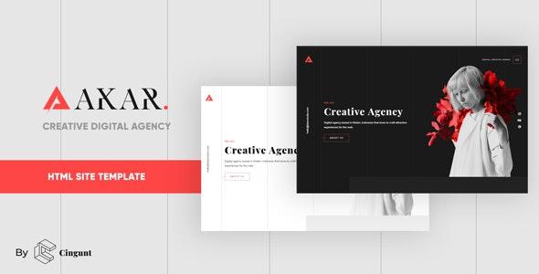 Akar – Creative Digital & Marketing Agency OnePage Template - Creative Site Templates
