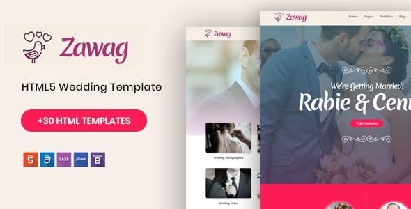 Zawag - Responsive HTML5 Wedding Template by Nile-Theme
