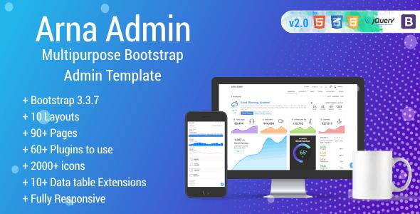 Arna - Multipurpose Bootstrap Admin Template - Admin Templates Site Templates